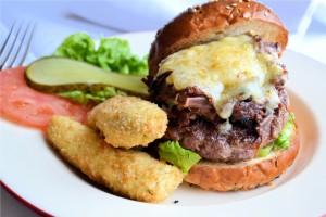 Burger avaialble in the bar