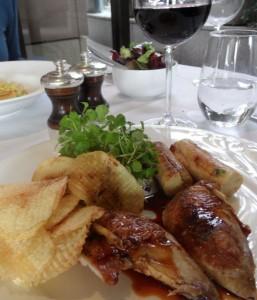 Roast red leg partridge