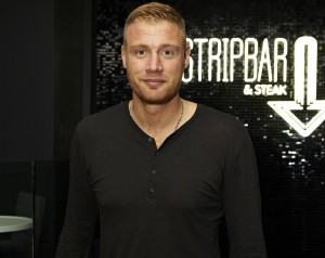 Former England cricketer, Freddie Flintoff at the Stripbar and Steak opening party