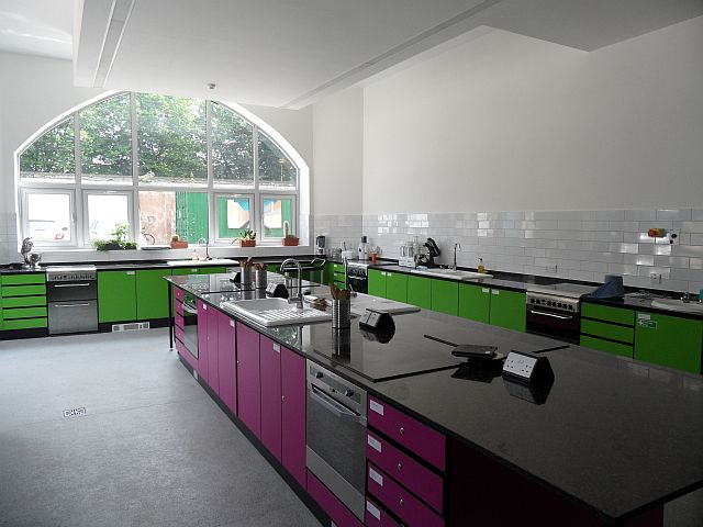 The great cookery school facilities at the St Luke's Centre