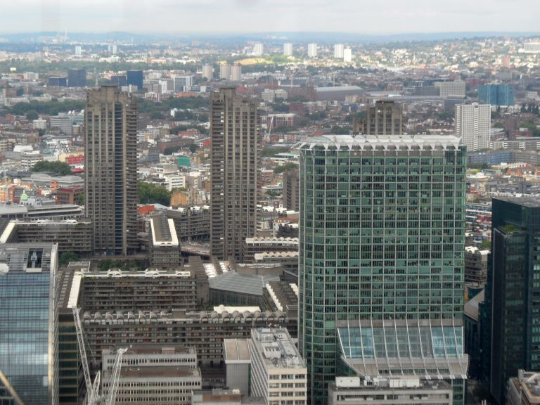 The Barbican from the Duck and Waffle