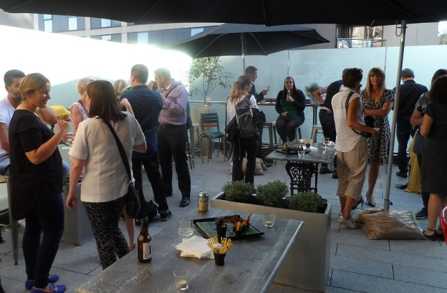 The launch party was held on the roof terrace
