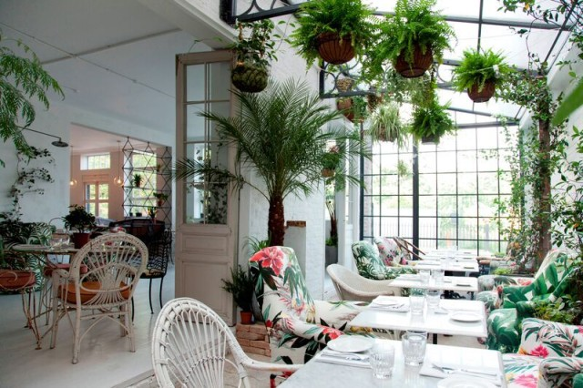 The bright and airy 'Greenhouse' section of the Bourne & Hollingsworth restaurant