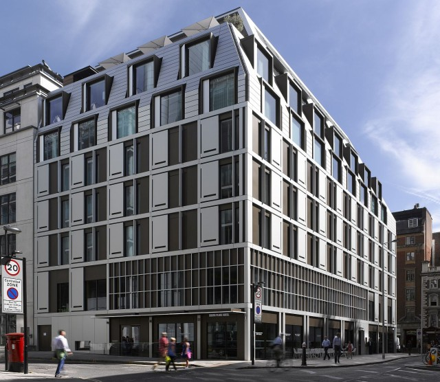 South Place Hotel South West corner Allies and Morrison Architects Conran + Partners