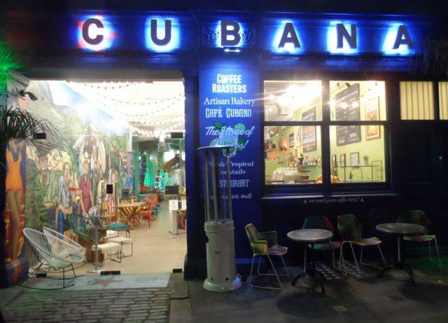 The brightly lit Cubana Smithfield with its garish decor on a Wednesday evening