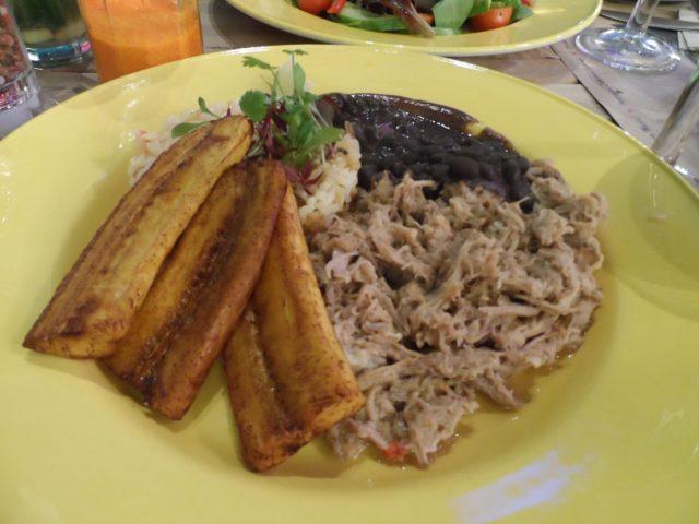 Cuban-style pork main dish