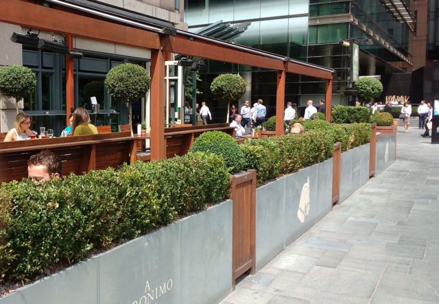 Nice area to eat alfresco on a fine day