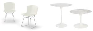 Bertoia chairs and Saarinen tables.