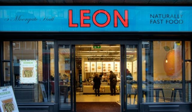 Leon's Moorgate Branch, close to Moorgate Station